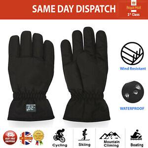 Boys & Girls Winter Waterproof Glove Warm Mitts Kids Insulated Black Ski Gloves