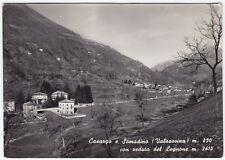 0310 LECCO CASARGO - SOMADINO - VALSASSINA - LEGNONE Cartolina FOTOG viagg. 1954
