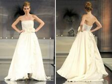 NEW DAVID MEISTER Dominique STRAPLESS BRIDAL BALL GOWN $3000 SIZE 4 WEDDING