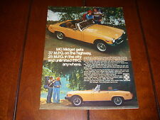 1976 MG MIDGET  ***ORIGINAL AD***