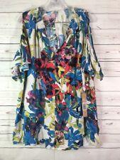 Rachel Roy Women Plus Top Shirt Multi-Color Cold Shoulder Sz 0X MSRP $99