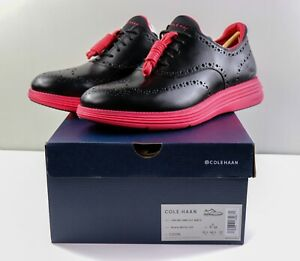 Cole Haan Staple Pigeon Grand 360 Wingtip Oxford Black Red C32516 Mens Size 11.5