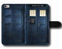 Tardis Phone Box Police Booth Clara Oswald Amy Magnetic Leather Phone Case Cover