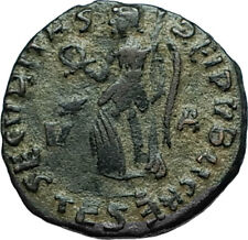 GRATIAN 379AD Thessalonica Authentic Ancient Roman Coin w VICTORY ANGEL i66293