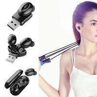 Bluetooth 5.0 Headset Drahtlose Kopfhörer Ohrhörer Stereo-In-Ear-Kopfhörer Q4Q5