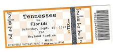 2012 TENNESSEE VOLS VOLUNTEERS VS FLORIDA GATORS TICKET STUB 9/15