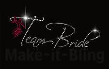 TEAM BRIDE - Rhinestone iron on heat transfer bridal or bachelorette party sash