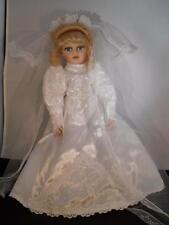 """Porcelain Bride 16in. Doll Lovely Gown """"Seeking Groom"""""""