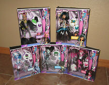 MONSTER HIGH GHOULS RULE SET OF 5 CLEO FRANKIE DRACULAURA ABBY CLAWDEEN NEW