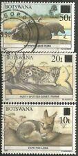 BOTSWANA 1990 WILDLIFE CONSERVATION SURCHARGES Sc#480-2 COMPLETE VFU SET 0535