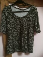 Betty Barclay Animal Print Top Size 16 BNWOT
