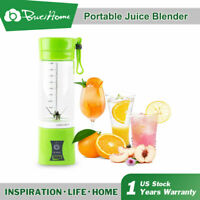 Juicer Cup Mini Electric Portable USB Rechargeable Juice Blender And Mixer 400ML