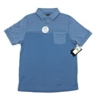 PGA Tour Mens Golf Polo Shirt Pocket UPF Stretch Wicking Blue Variety Sizes