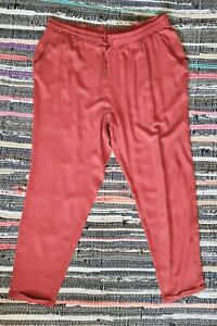 LADIES  RUST SUMMER TROUSERS SIZE 18 NEW WITH TAGS