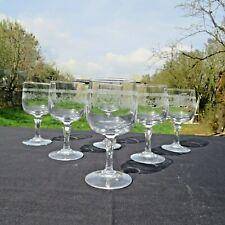 6 verres a vin blanc en cristal d arques modèle Matignon