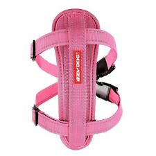 EzyDog Pink Chest Plate Harness Reflective Car Restraint Seat Belt Attachment