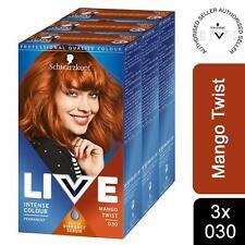 3pk of Live Mango Twist Permanent Hair Dye, Intense Colour 030