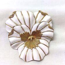 VINTAGE anni 1960 CROWN TRIFARI SMALTO Fiore Spilla
