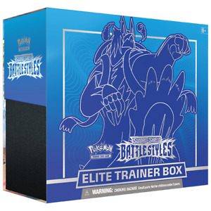 Pokemon TCG: Sword & Shield 5 Battle Styles Elite Trainer Box Blue