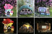 Fairy Houses Magical Ornament Garden Solar Lawn Pixie Small