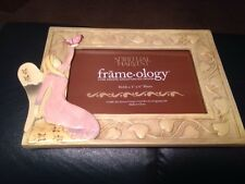FRAME-OLOGY SPIRITUAL HARVEST ANGEL BUTTERFLY 4 X 6 PICTURE FRAME CREAM IVY GIRL