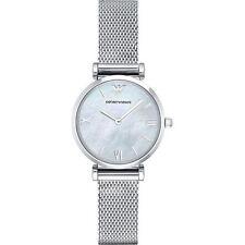 Emporio Armani AR1955 Gianni T-Bar Damen Uhr Edelstahl Silber Milanaise Armband