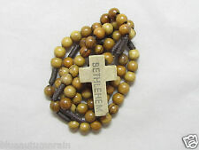 "† ""TO BE BLESSED"" 50% OFF SALE SIMPLE ""BETHLEHEM"" WOOD BEAD ROSARY NO CENTER †"