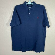 New listing Polo Ralph Lauren Polo Shirt Mens 2XB Big Blue Heather Short Sleeve Cotton Rugby