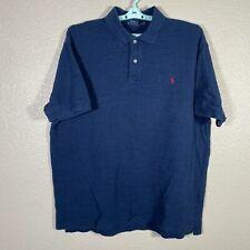 Polo Ralph Lauren Polo Shirt Mens 2XB Big Blue Heather Short Sleeve Cotton Rugby