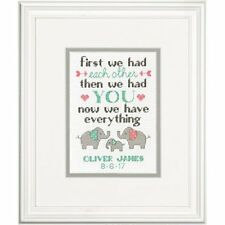 Dimensions Family Birth Record Counted Cross Stitch Kit, Multi-Colour