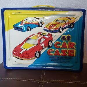 Tara Toy 48 Die Cast Car Case Hot Wheels Match Box Mini Cars w/trays (3)