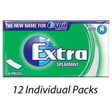 WRIGLEYS EXTRA SPEARMINT FLAVOUR 14 PIECES CHEWING GUM x 12 PACKETS 186977