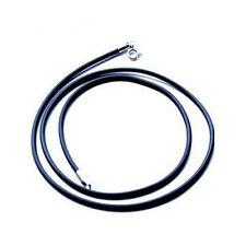 Genuine 925 Sterling Silver 16inch2mm wide Black Soft Rubber Chain Necklace U114