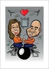 2 Person Digital Anniversary Caricature From Photo - Personalised - Digital File