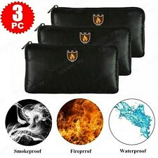 Fireproof Waterproof Money Bag Safe Cash Box Document Envelope File Pouch Case