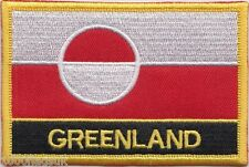 Denmark Greenland Flag Embroidered Patch Badge - Sew or Iron on
