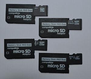 Bâton de Mémoire Pro Duo 8 16 32 64 128 GB Carte Pour Sony PSP 1004 2004 3004