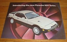 Original 1979 Porsche 924 & 924 Turbo Foldout Sales Brochure