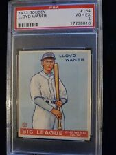 1933 Goudey #164 Lloyd Waner HOF - Pirates - PSA 4 * Check out my other listings