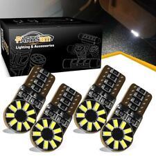 4x 168 2825 W5W Bulb 6000K T10 LED Car Map License Plate Interior Light No Error