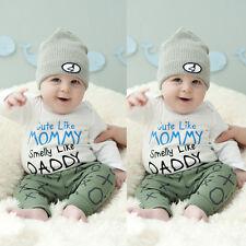 Recién Nacido Bebé Bebé Niño Niña Infantil Texto Pelele Bebé Mono Body Ropa