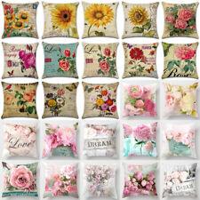 Pink Spring Floral Sofa Pillowcase Cushion Cover Throw Pillow Case Home Decor 18