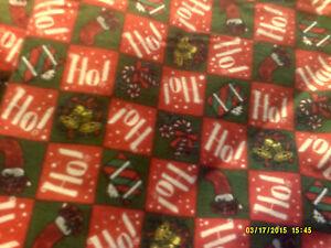 52x22 Standard Flannel  Daycare cot sheets Ho! Ho! Print (6 sheets)
