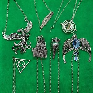 Harry Potter - Necklace Chain Pendant - Hogwarts Time Turner Felix Fawkes - NEW