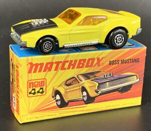 Vintage Matchbox 1972 Lesney 1-75 No 44 Ford Boss Mustang Superfast MIMB