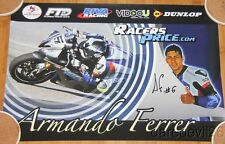 2015 Armando Ferrer signed Racers Price Yamaha YZF-R6 Daytona 200 ASRA poster