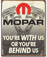Mopar Metal tin sign behind us HEMI home garage Wall decor new