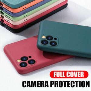 For iPhone 12 Pro Max 11 XS X 8 7 Camera Protect Soft Liquid Silicone Case Cover