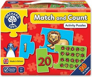 Orchard Toys Jigsaw Puzzle - Match and Count 20x 2pc 19