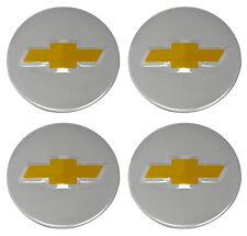 OEM Factory Center Caps Chevy Bow Tie Emblem Logo Chrome Finish 2 1/4 Set of 4